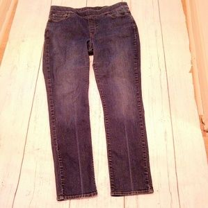 LEVI'S pull on stretch slimming jeans, 16